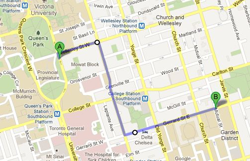 route for the march