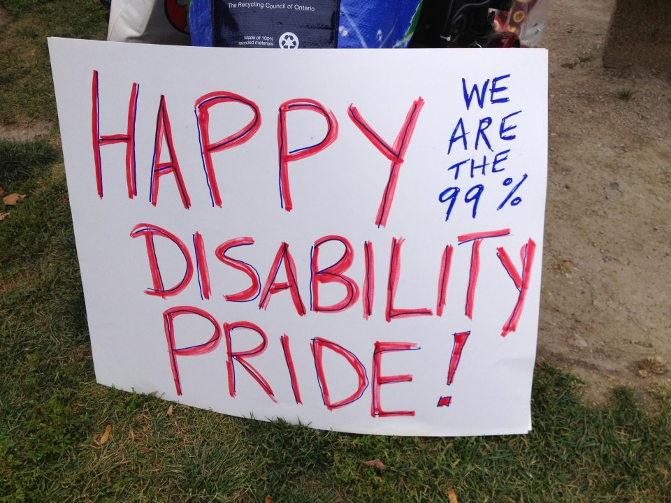 Happy disability pride banner