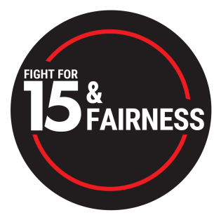 Fight for $15 and Fairness Logo